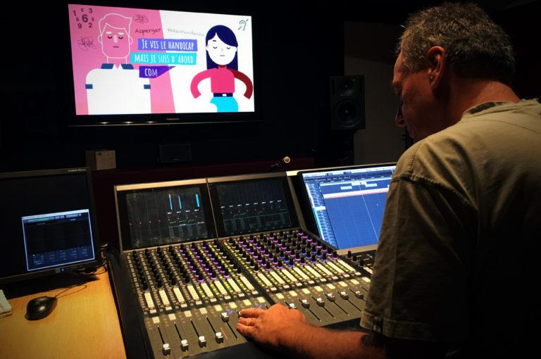 Séance de mixage d'un de nos films chez nos amis de Yellow Cab Studios. Photo © LF2D.